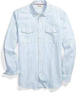Goodthreads Men's Standard-fit Long-Sleeve Linen and Cotton Blend Shirt