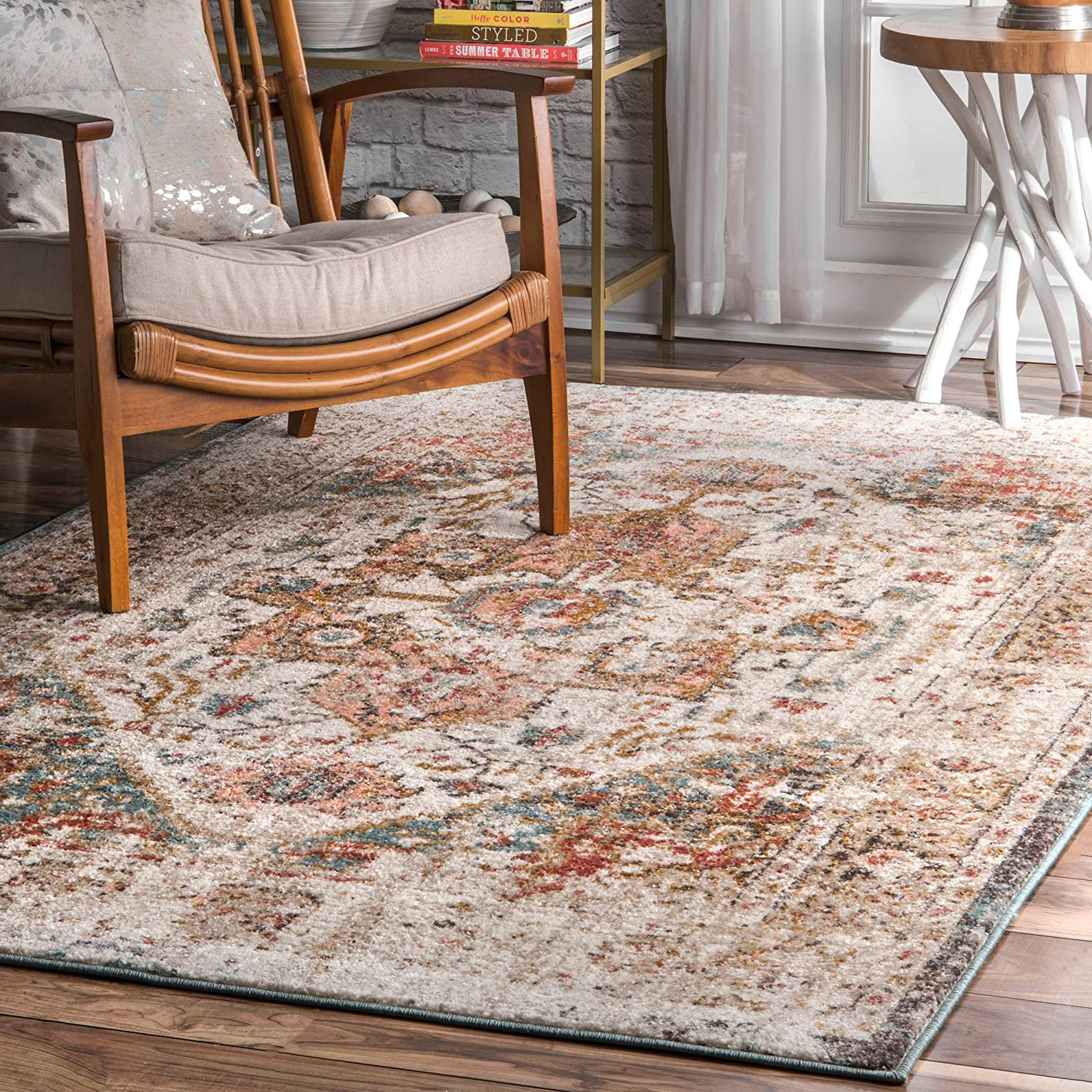 nuLOOM Shane Persian Vintage Area New Shipping Free Shipping Rug Beige 2021 6' 9' 7