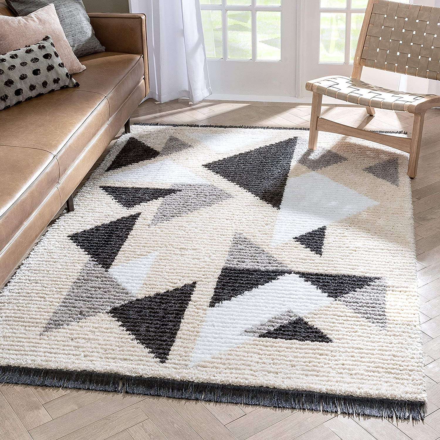 Well Woven Eterena Grey Tribal Abstract Luxury goods Patt Geometric 2021 new Triangles