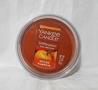 Yankee Candle Spiced Pumpkin Scenterpiece Easy MeltCup, Food & Spice Scent,medium orange,Scenterpiece Easy MeltCups