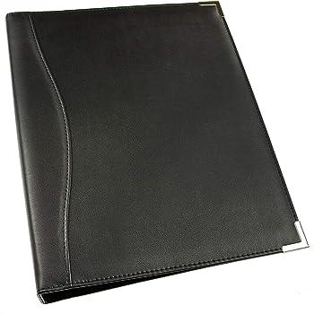 Esposti A4 Ringbuch Executive - Ledercover - A4 - Silberne Metallecken