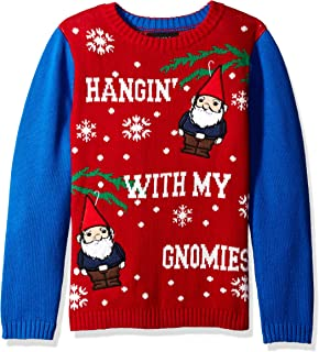 Boys Ugly Christmas Sweater Gnomies