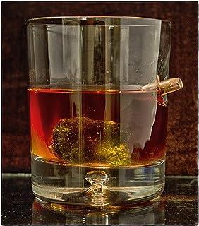 Einzigartiges Geschenk .Tumbler.Whiskyglas mit realem Projektil Cal.308 Glas mit Kugel