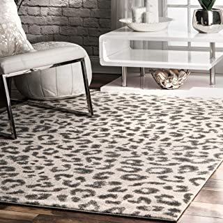 Best gray cheetah rug Reviews