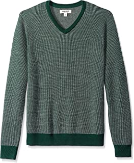 Goodthreads Men's Merino Wool V-Neck Birdseye Sweater