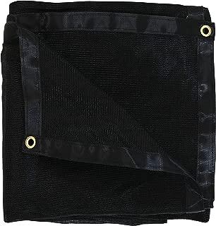 Sunnydaze 8-Foot x 16-Foot Mesh Tarp, Multi-Purpose UV-Resistant Black High-Density Polyethylene