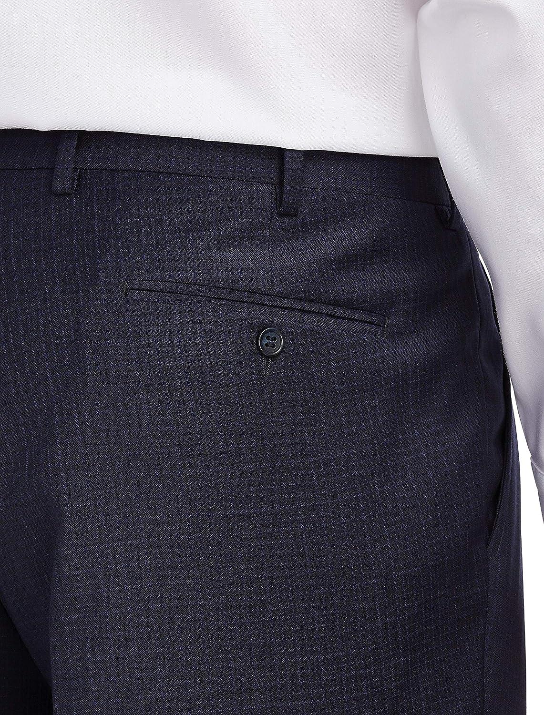 Navy Jack Victor Reflex Mini Grid Stretch Suit Pants