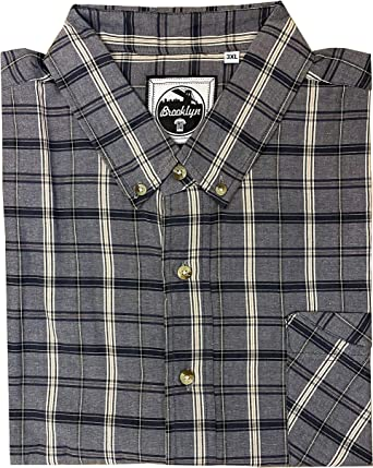 Brooklyn Imports LTD Mens Big Size Short Sleeve Casual Shirt with Chest Pocket Available in 2XL-6XL