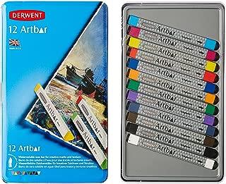 Derwent Art Supplies, Artbar Water Soluable Bars, Creamy Vivid Wax-Based, Similar to Oil Pastel, Metal Tin, 12 Count (2300590)