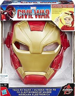 3c9a9a8f1a Máscara Eletrônica do Homem de Ferro Marvel Capitão América  Guerra Civil  Hasbro Vermelho Amarelo