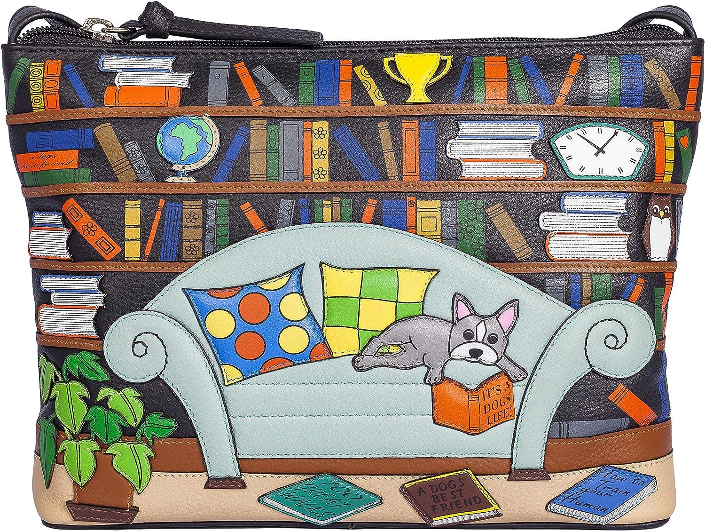 Mala Leather Beau Dog Library Sac à bandoulière en cuir de qualité supérieure Small Crossbody