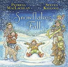 a snowflake falls