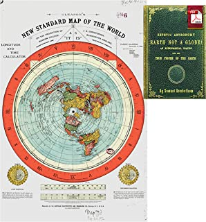 flat earth map image