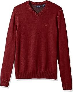 IZOD Men's Premium Essentials Solid V-Neck 7 Gauge Sweater