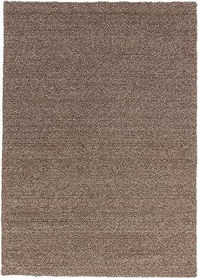 ASTRA Livorno D-160 Teppich, Polyester, brau meliert, 90 x 160 x 0,27 cm