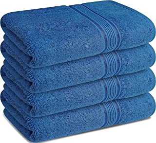 Textile N More -Luxury Combed Cotton Bath Towels 700 GSM- Premium Combed Cotton Towel Set- Daily Usage Bath Towel-Ideal fo...