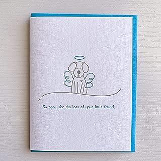 Dog Sympathy Card, Dog Condolence Card, Letterpress Dog Sympathy Card, Grief and Mourning of Pet