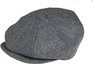 Men's 8 Piece 'Newsboy' Style Flat Cap Wool
