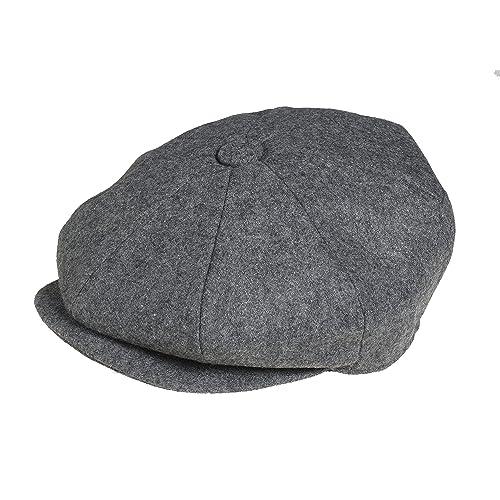 2c34ec5266d Peaky Blinders Men s 8 Piece  Newsboy  Style Flat Cap Wool