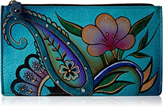 Women's Genuine Leather Organizer Wallet | Holds up to 7 Cards | Hand Painted Original Artwork