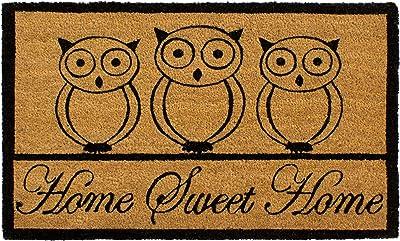 "Storm Stopper Sweet Home Owl Printed Coir Mat, 18"" x 28"""