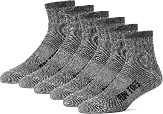 Merino Wool Ankle Socks Pack of 6 Arch Support and Cushioning Heel to Toe Reinforcement Ideal for Hiking