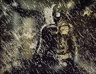 Batman Metal Painting Dark Knight Rises Movie Poster Bat Man DC Comics Justice League Spray Paint Art