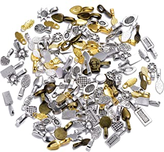150gram Mix Spoon Glue on Bail for Earring Bails Scrabble Glass Pendants Charms Connector Jewelry (About 180-200pcs)