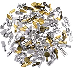 200pcs Mix Color Style Spoon Glue on Bail for Earring Bails or Scrabble and Glass Pendants Charms Connector Jewelry