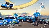 Quad de la police américaine: méga rampe voiture stunts de course