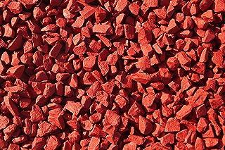 RockinColourTM Piedras decorativas para jardín, color rojo - rosso