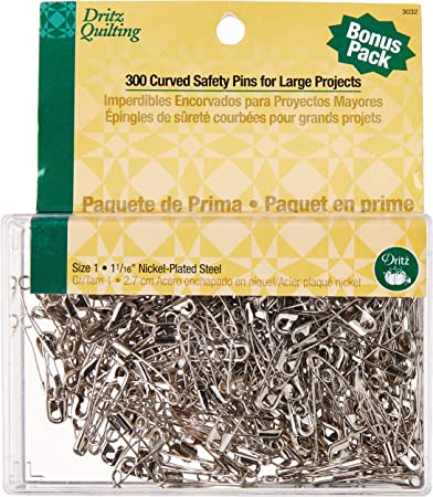 pack of 48 large 60 mm Maxi safety pins 2994 green