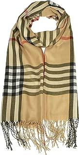 Women's Plaid Scarf Checkered Classic Long Wrap Shawl