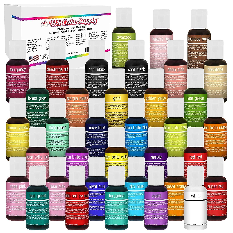 U.S. Cake Supply 36 Cheap mail order shopping Color Food Decoratin Coloring Regular discount Liqua-Gel