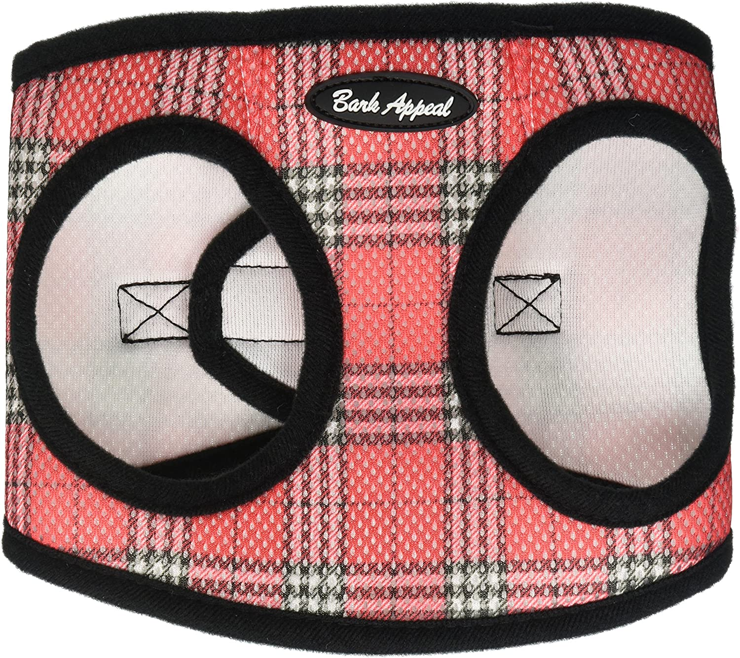 Bark Appeal Mesh Step in Harness, Large, Red Plaid