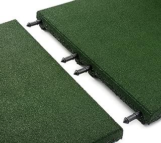 Playsafer Green Rubber Interlocking Playground Tile - 30 Tiles