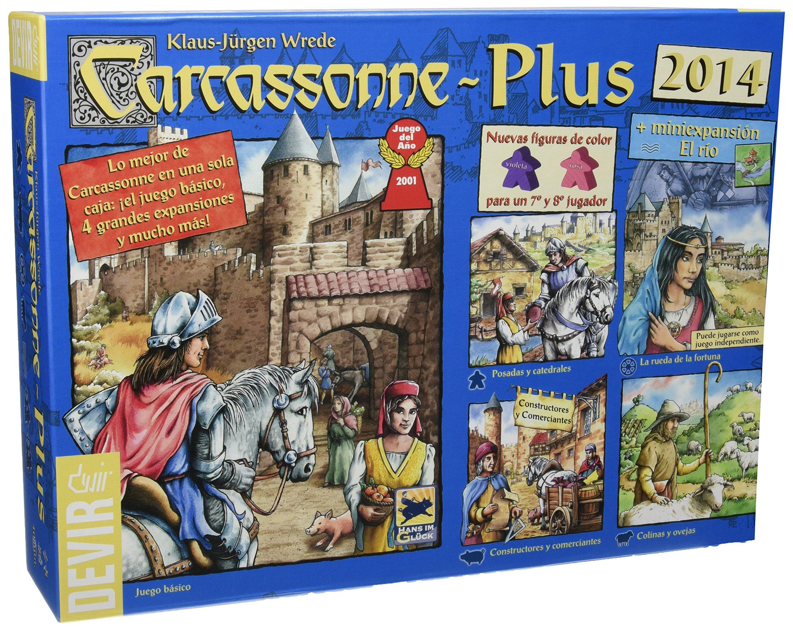 Devir - Carcassonne Plus 2014, juego de tablero: Amazon.es: Juguetes y juegos