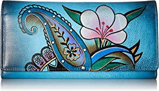 Anna by Anuschka Hand Painted Leather | Triple Compartment Wallet/Clutch