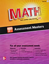Glencoe Math Your Common Core Edition CCSS Course 3 Assessment Masters