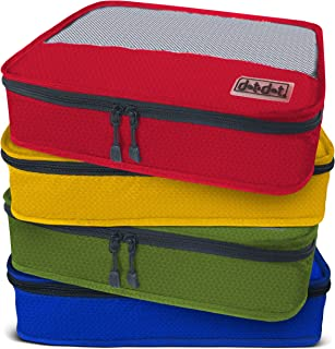 Dot&Dot Medium Packing Cubes for Travel - 4 Piece Best Assorted Luggage Accessories Organizers