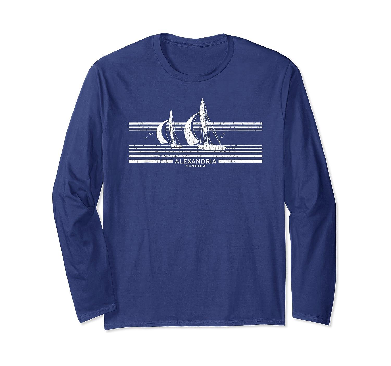 Alexandria Va Sailboat T-shirt Vintage 70s Sailing Tee Long Sleeve T-shirt