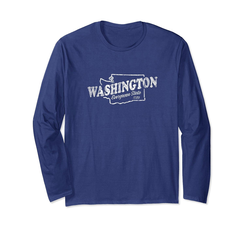 Washington Wa Vintage Graphic Evergreen State Shirts Long Sleeve T-shirt