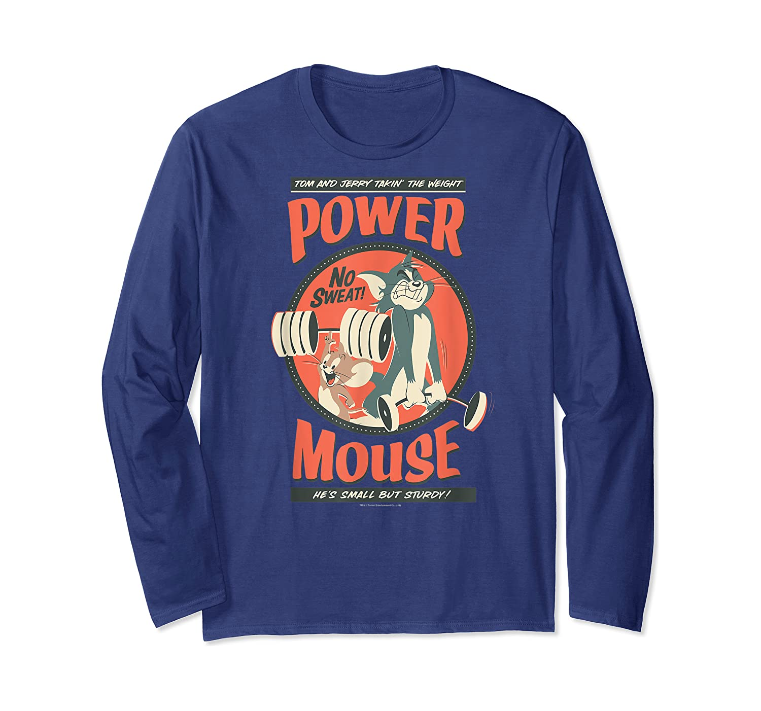 Tom And Jerry Power Mouse T-shirt Long Sleeve T-shirt