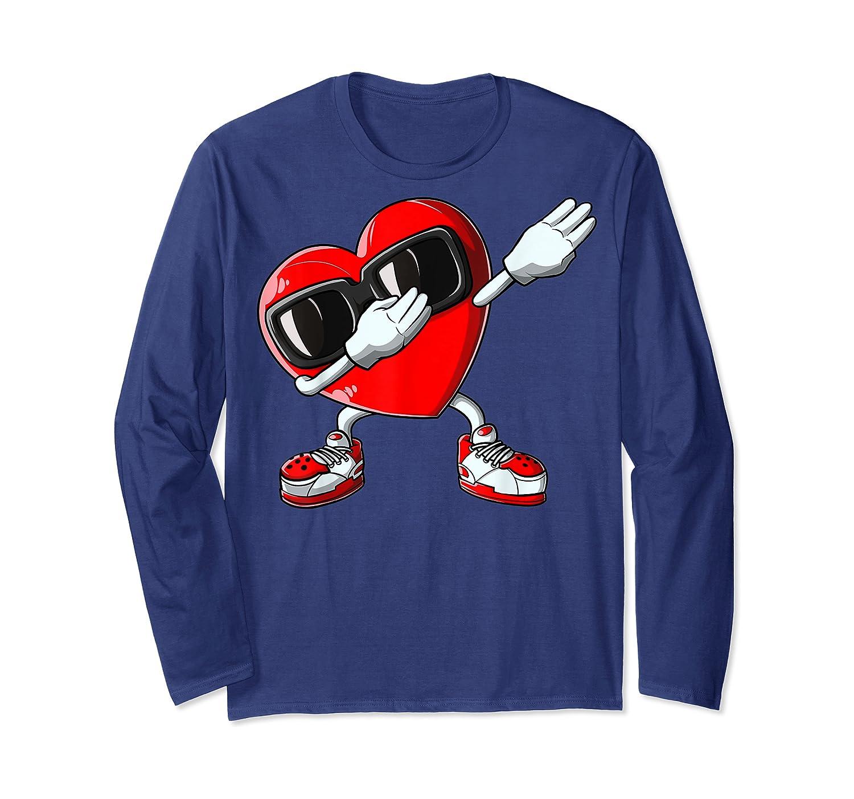 Dabbing Heart Valentines Day Love Dab Dance Gifts T-shirt Long Sleeve T-shirt