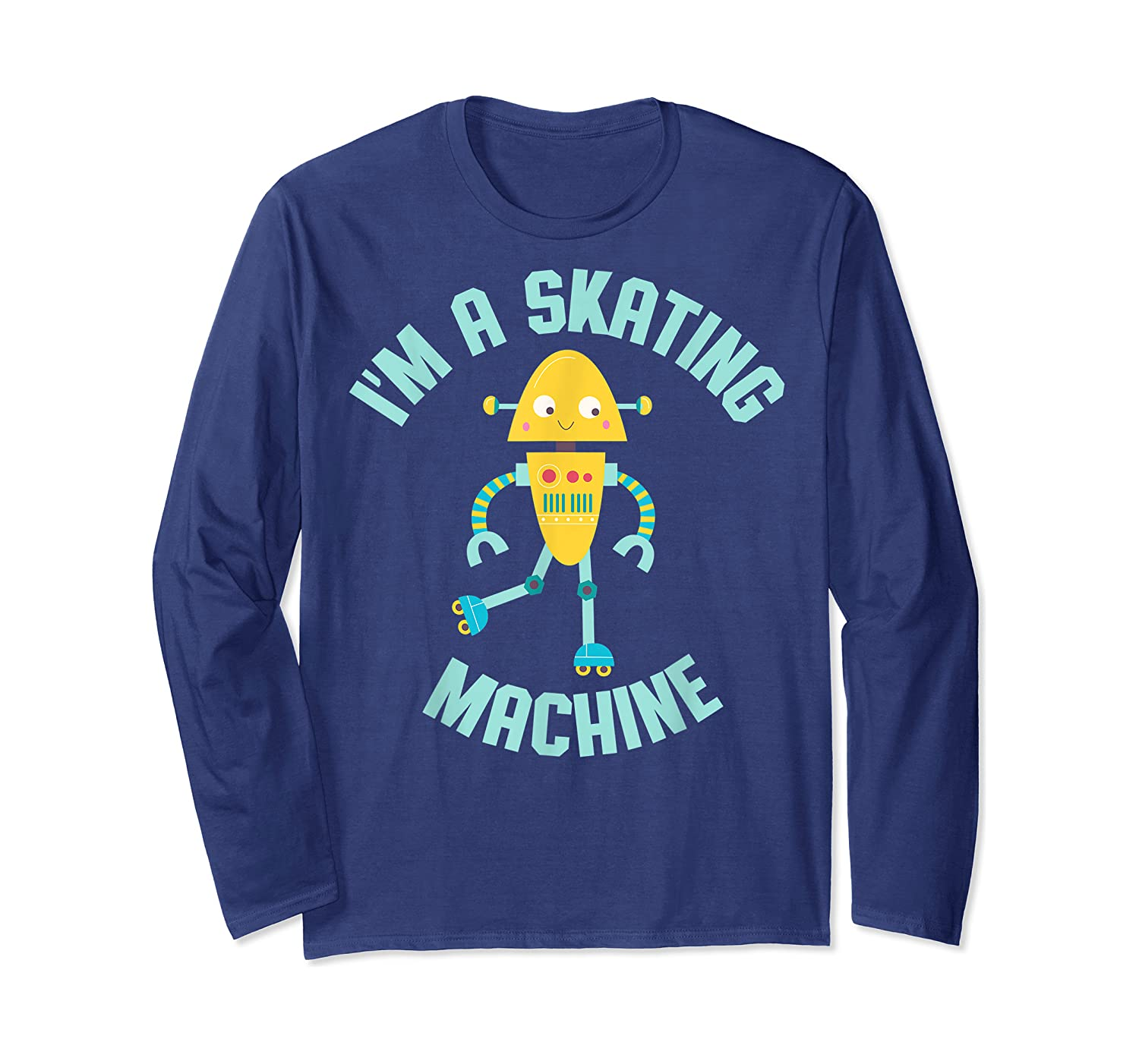 Roller Skating Robot For And Girls Shirts Long Sleeve T-shirt