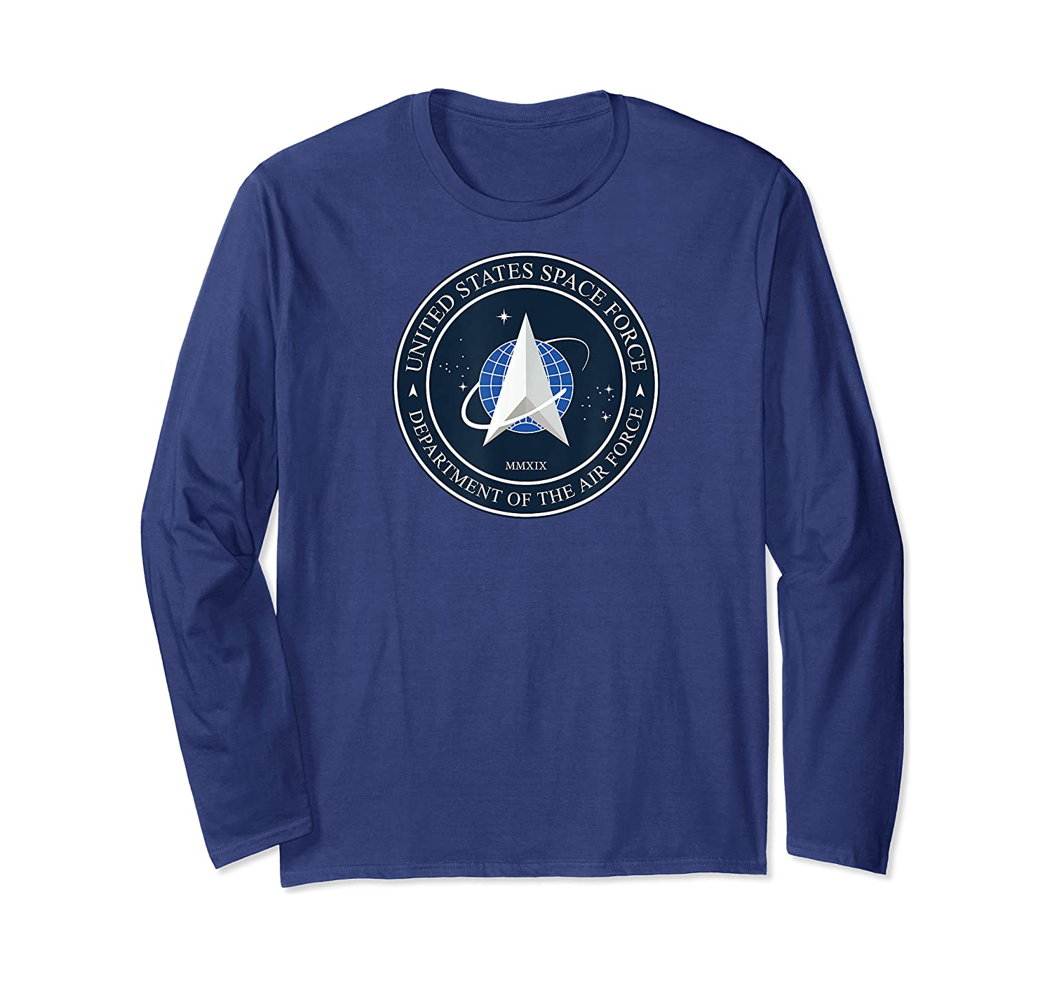 Space Force Logo Full Color Design Astronaut Wear Shirts Long Sleeve T-shirt