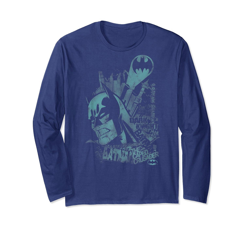 Batman Gritted Teeth T-shirt Long Sleeve T-shirt