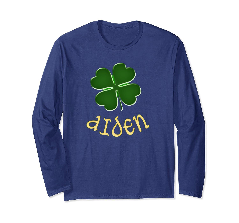 Aiden Irish Name St Patrick's Day Holiday Family Gift Long Sleeve T-Shirt-Awarplus