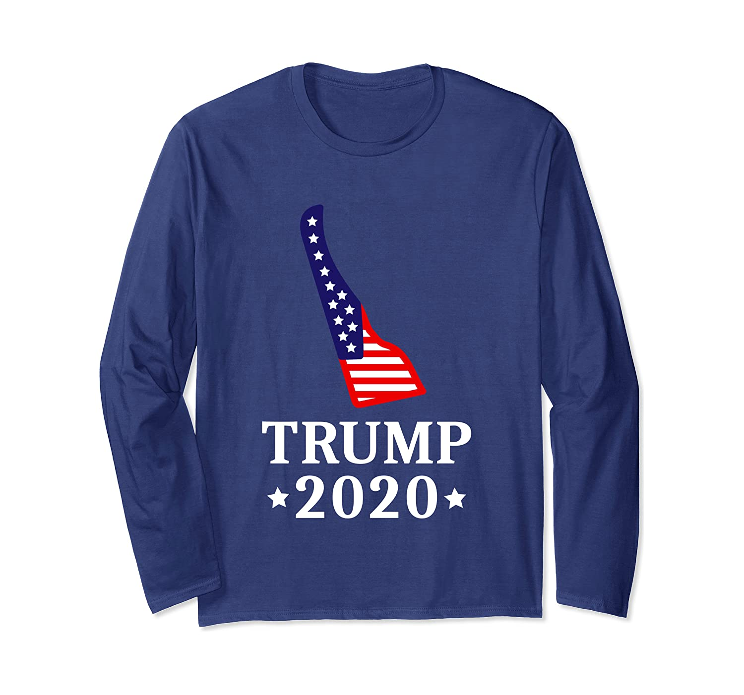 Delaware For Trump 2020 GOP Conservative Gift DE State Map Long Sleeve T-Shirt