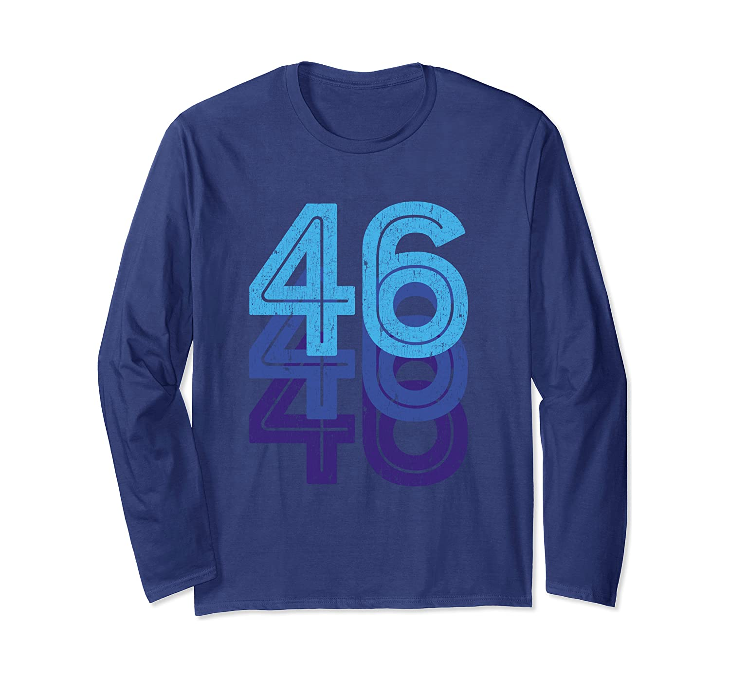 46th Birthday Lucky Number 46 Sports Team Birth Age Year Long Sleeve T-Shirt